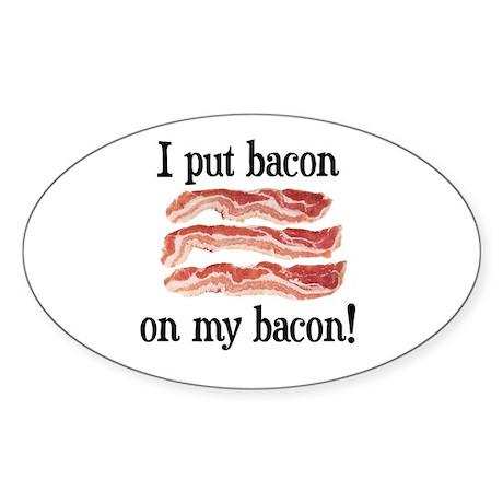 Bacon Lovers Oval Sticker