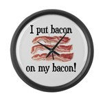 Bacon Lovers Large Wall Clock