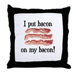 Bacon Lovers Throw Pillow