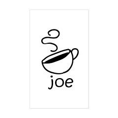 Java Joe Coffee Cartoon Rectangle Decal
