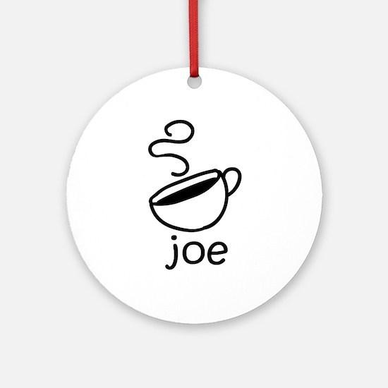 Java Joe Coffee Cartoon Ornament (Round)
