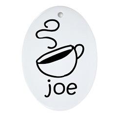 Java Joe Coffee Cartoon Oval Ornament