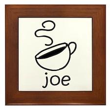 Java Joe Coffee Cartoon Framed Tile