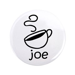 "Java Joe Coffee Cartoon 3.5"" Button (100 pack"