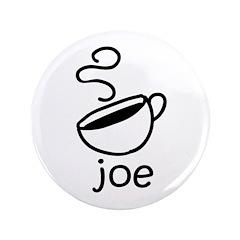 "Java Joe Coffee Cartoon 3.5"" Button"