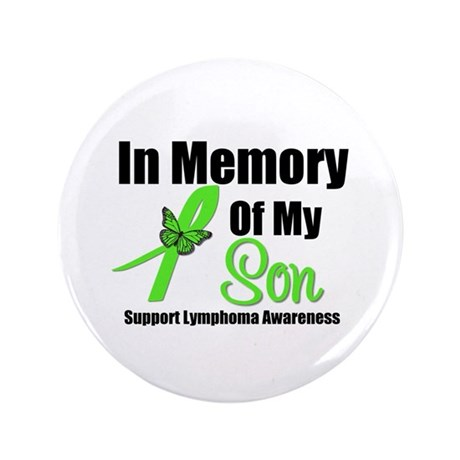 "In Memory of My Son 3.5"" Button"