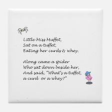 Cute Nursery rhyme Tile Coaster