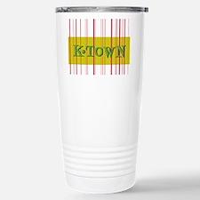 Gold K-Town Knoxville Retro Striped Travel Mug