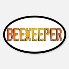 Beekeeper Stamp Oval Decal