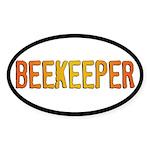 Beekeeper Stamp Oval Sticker (10 pk)
