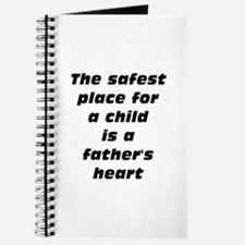 father's heart safest place for child Journal