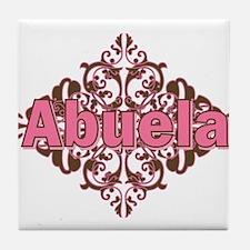 Abuela Spanish Crest Tile Coaster
