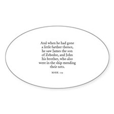 MARK 1:19 Oval Decal