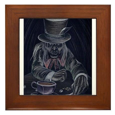 Mad Hatter in Black Framed Tile