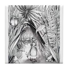 Alice in the Garden Tile Coaster