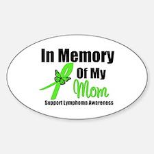 In Memory of My Mom Oval Sticker (10 pk)