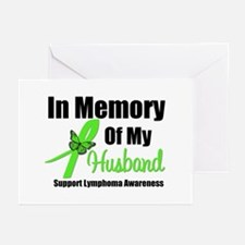 In Memory of My Husband Greeting Cards (Pk of 10)