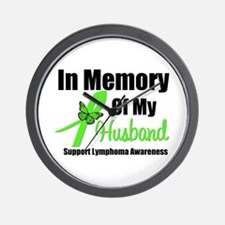 In Memory of My Husband Wall Clock