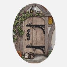 English Tudor Door Oval Ornament