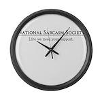 National Sarcasm Society Large Wall Clock