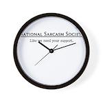 National Sarcasm Society Wall Clock