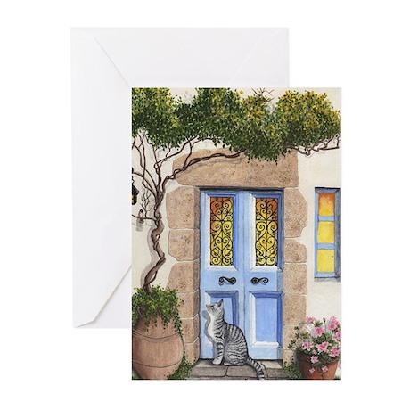 Greek Door Greeting Cards (Pk of 20)