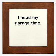 Garage Time Framed Tile