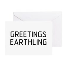 Greetings Earthling Greeting Card