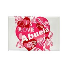 I Love Abuela Rectangle Magnet