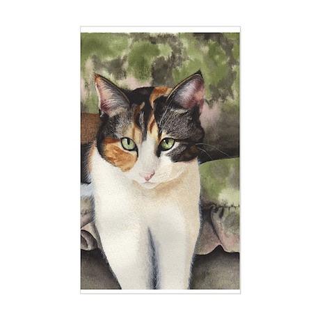 Calico Cat Rectangle Sticker