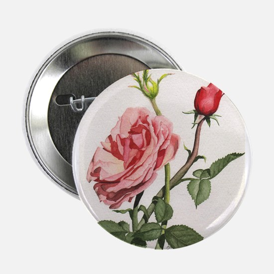 "Peach Rose 2.25"" Button"