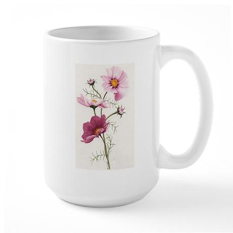 Pink Cosmos Large Mug