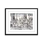 Lovers Framed Panel Print