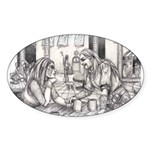Lovers Oval Sticker (10 pk)