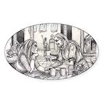 Lovers Oval Sticker