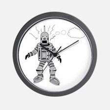 Lost and Confused Robot Wall Clock