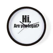 Hi, are you legal? Wall Clock