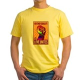 Equality Mens Yellow T-shirts