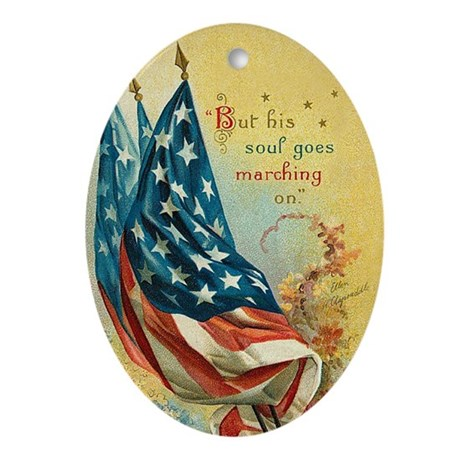 Soldier Memorial Christmas Ornament(Oval)