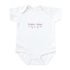 Daddy's Helper Infant Bodysuit (red)