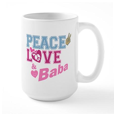 Peace Love and Baba Large Mug