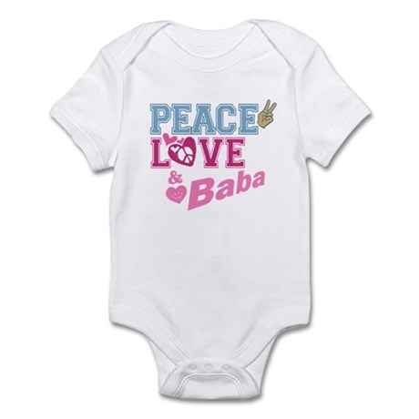 Peace Love and Baba Infant Bodysuit