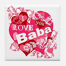 I Love You Baba Tile Coaster