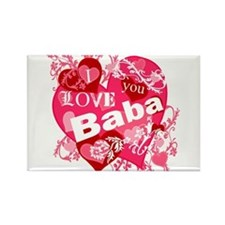 I Love You Baba Rectangle Magnet