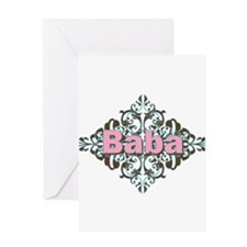 Grandma Baba Name Crest Greeting Card