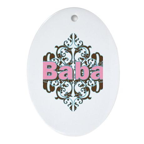 Grandma Baba Name Crest Oval Ornament