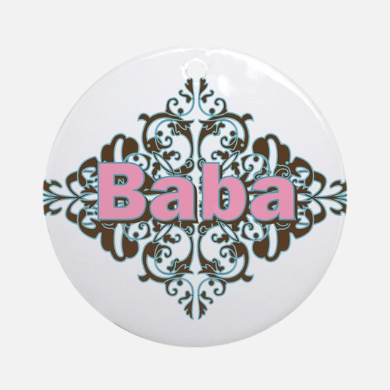 Grandma Baba Name Crest Ornament (Round)