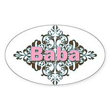 Grandma Baba Name Crest Oval Decal