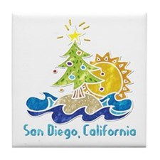 San Diego Holiday Tile Coaster