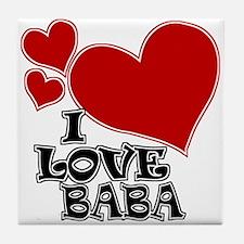 I Love Baba Tile Coaster
